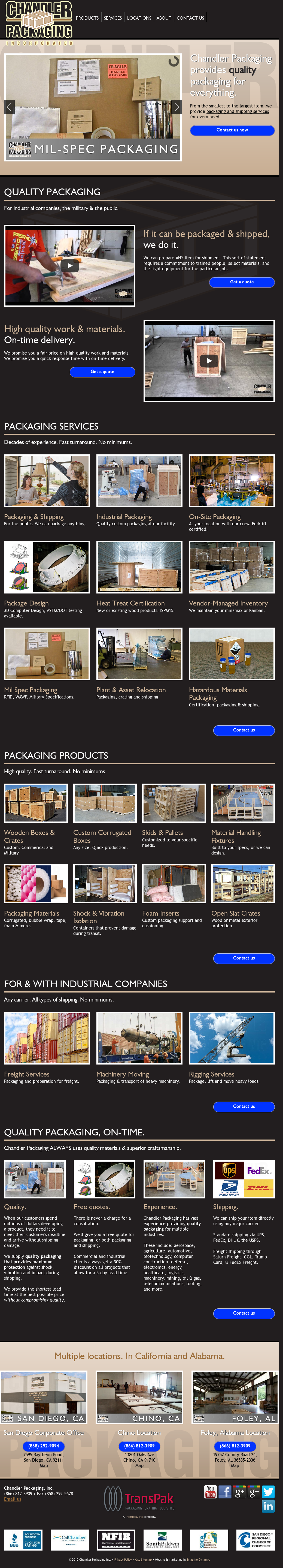 chandler packaging competitors revenue and employees owler