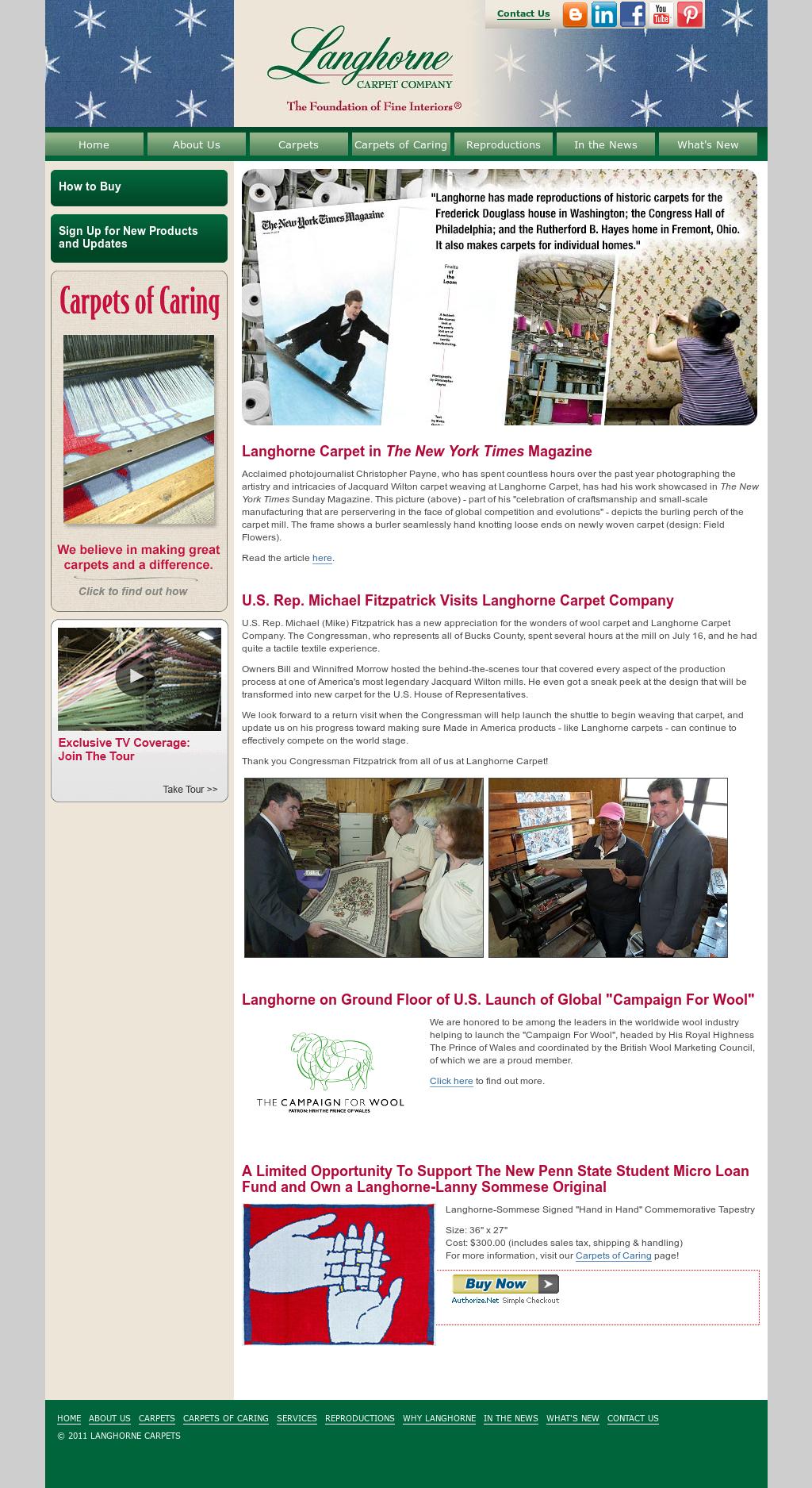 Langhorne Carpet Competitors, Revenue