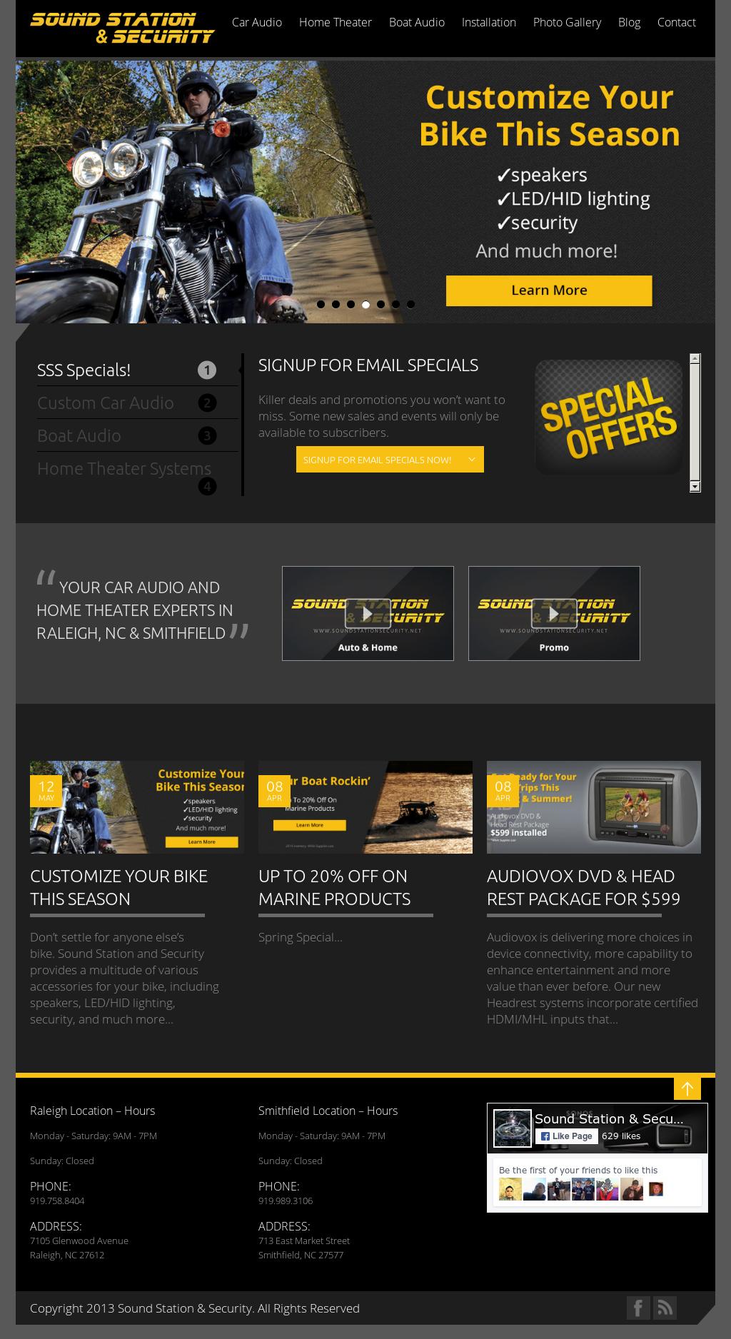 Sound Station Security Website History