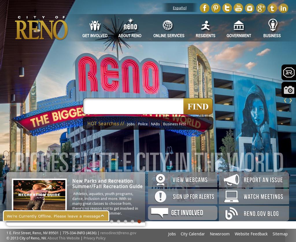 City Of Reno Jobs >> City Of Reno Nv Competitors Revenue And Employees Owler Company