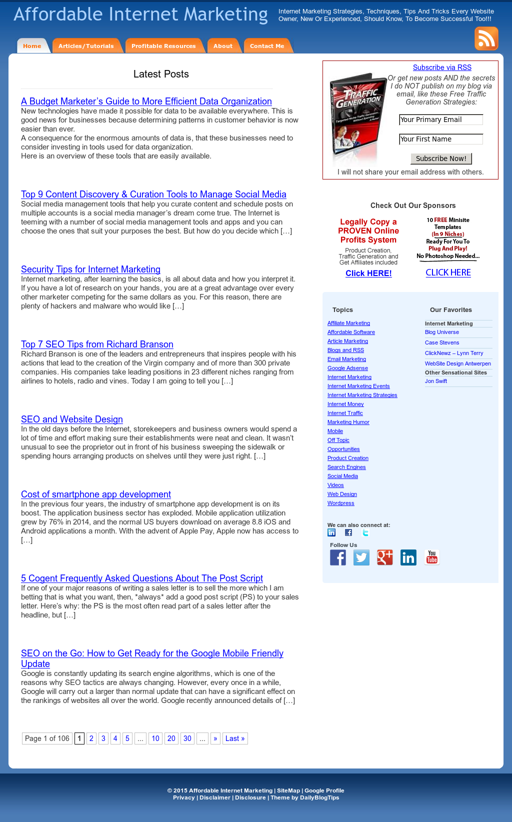 Affordable Internet Marketing Competitors Revenue And Employees