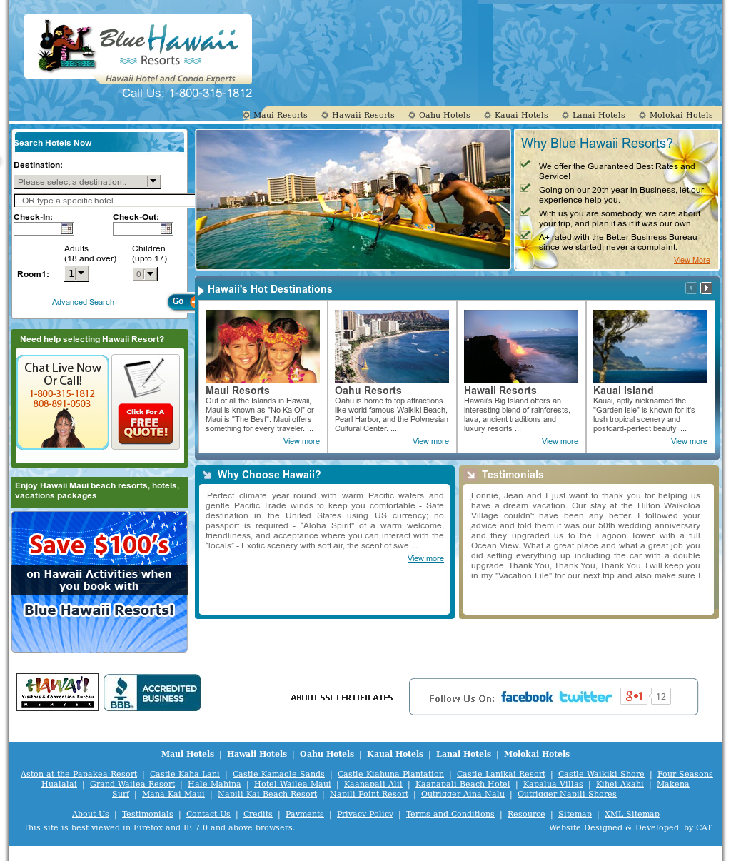 blue hawaii vacations competitors revenue and employees owler