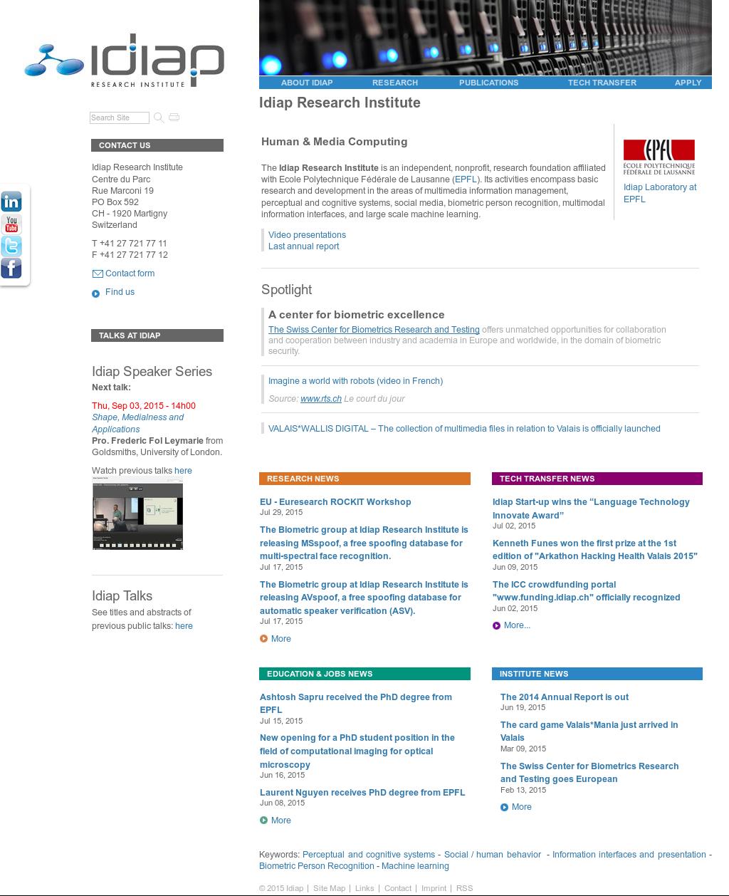 Owler Reports - Idiap Research Institute Blog Vedrana