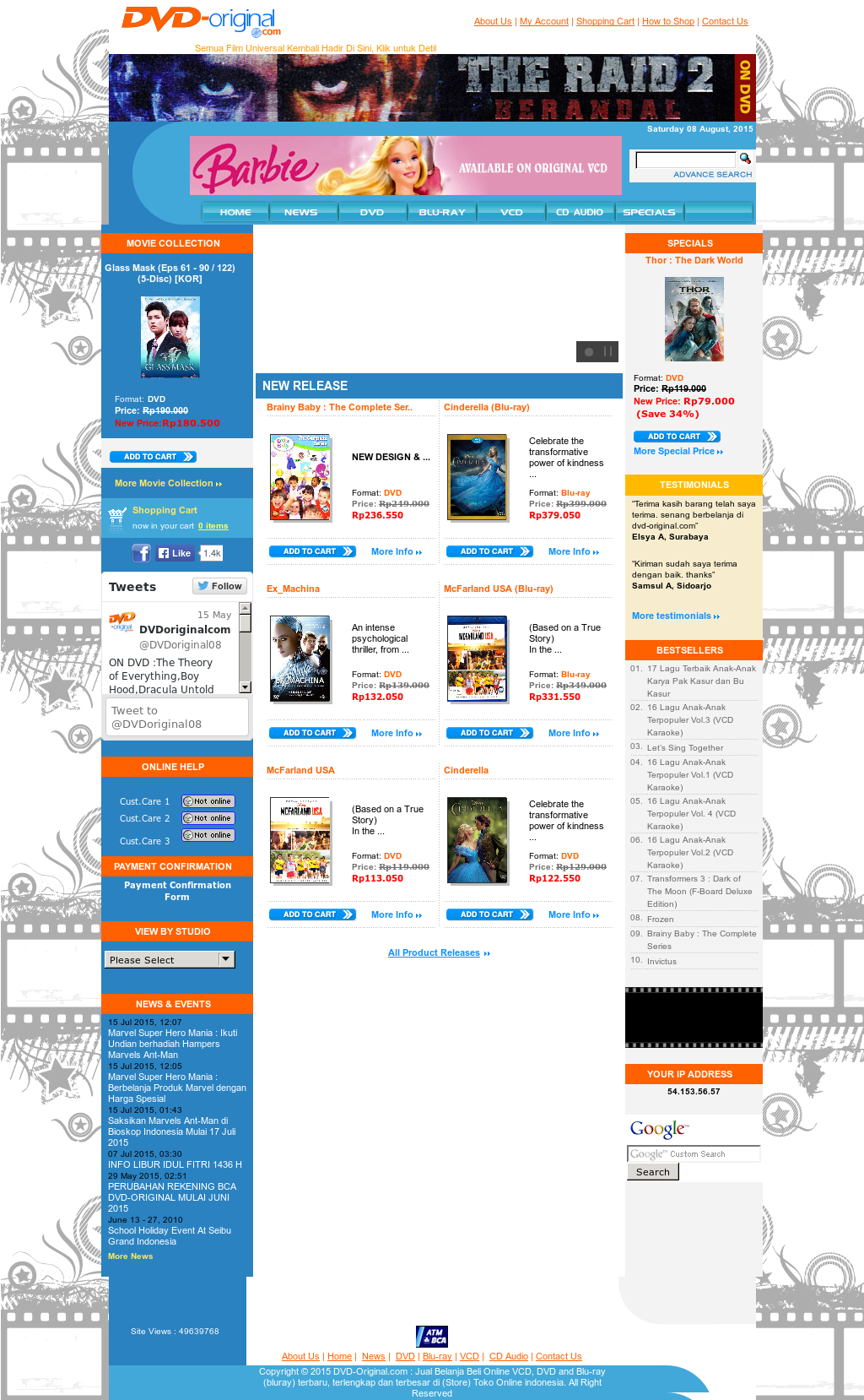 Online Store For Vcd, Dvd, & Blu-ray Original In Indonesia
