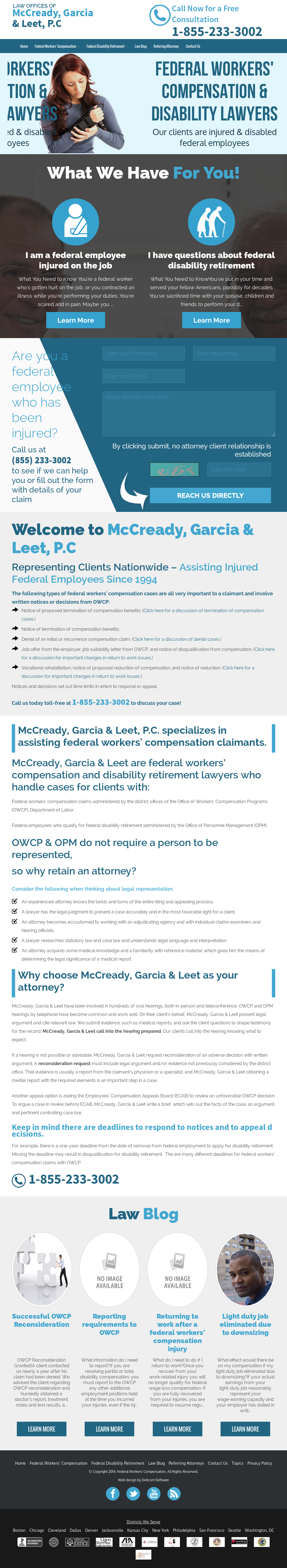 Mccready, Garcia & Leet, P c  Federal Compensation Lawyers