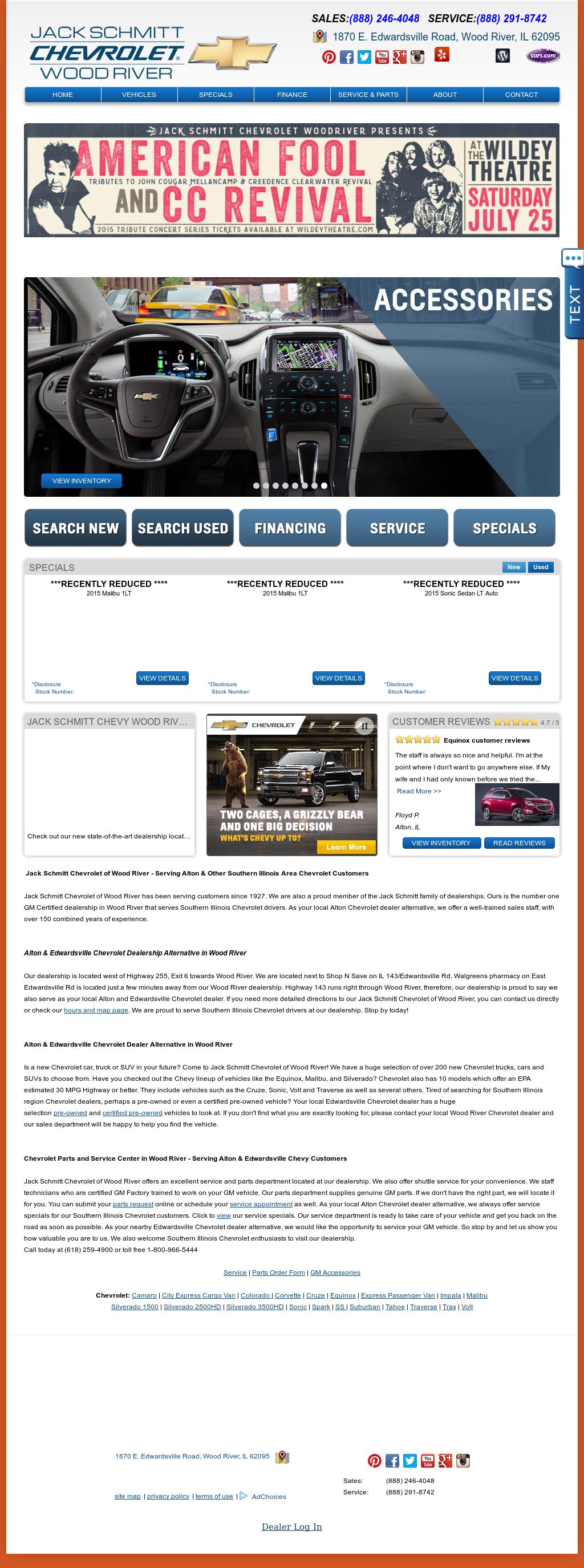 Jack Schmitt Chevrolet Of Wood River Website History