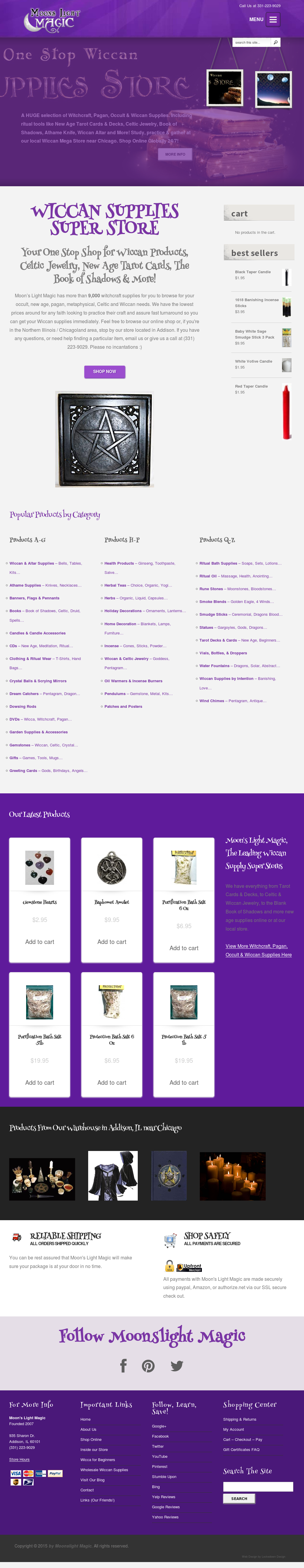 Wiccan Supplies-moon's Light Magic Competitors, Revenue and
