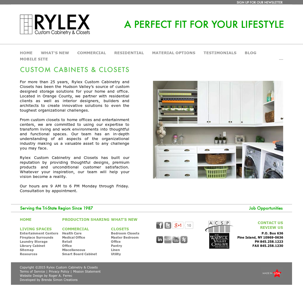 Rylex Custom Cabinetry And Closets Competitors Revenue And