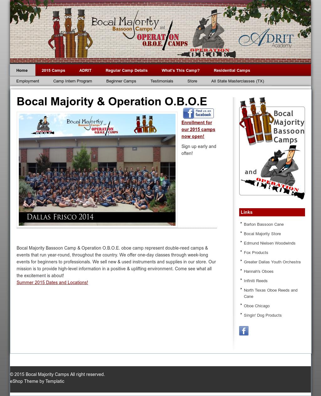 Bocal Majority Bassoon Camp And Operation O b o e