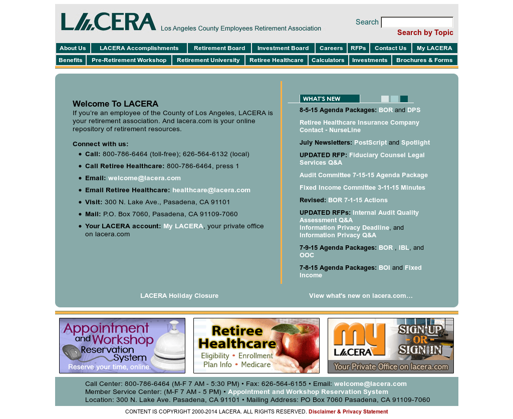 Owler Reports - LACERA: Los Angeles County Employees issues call for
