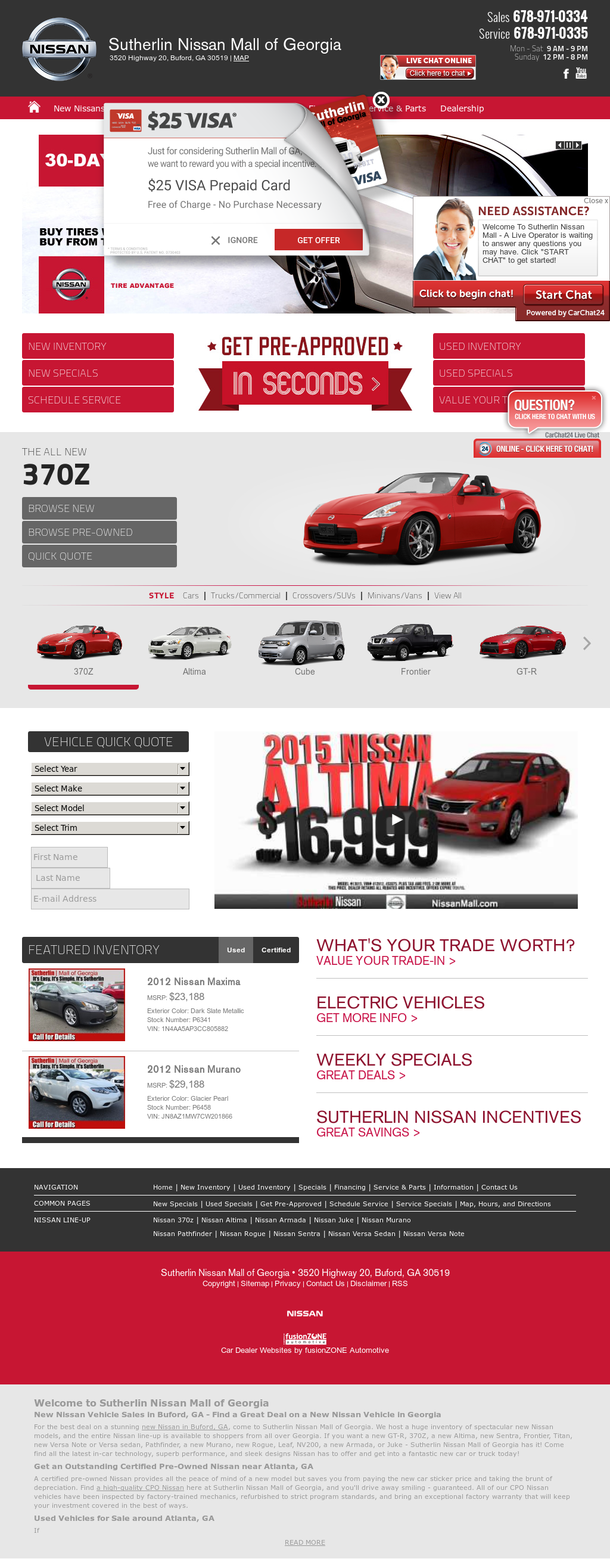 Sutherlin Nissan Mall Of Georgia Website History