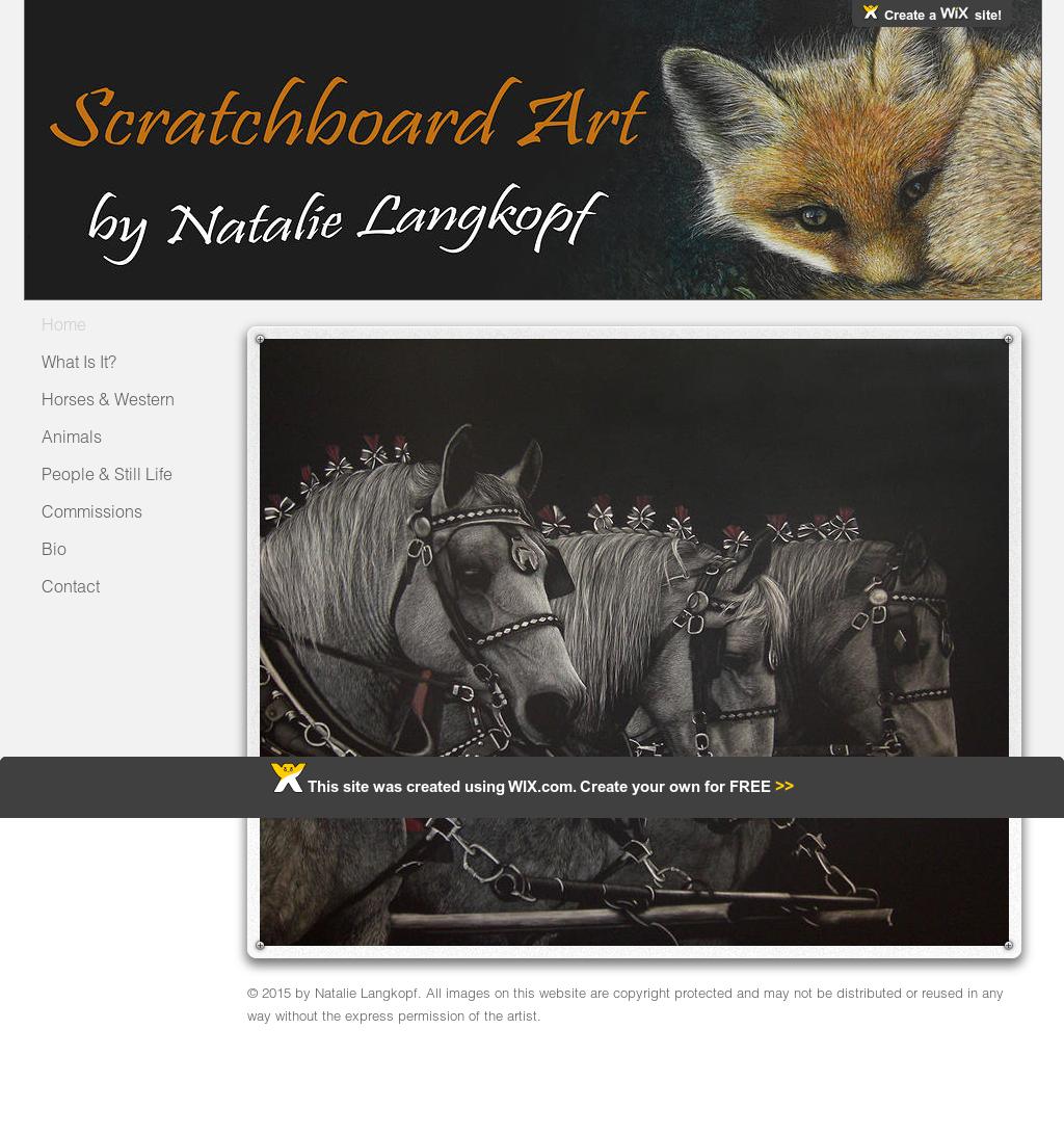 Natalie's Scratchboard Art Competitors, Revenue and