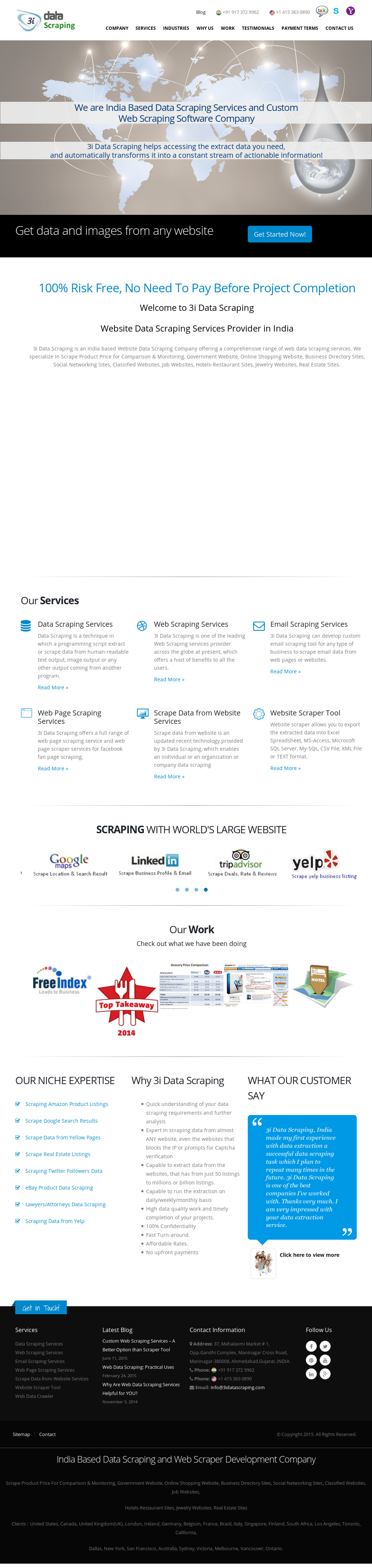 3i Data Scraping - Web Data Scraping Company Competitors