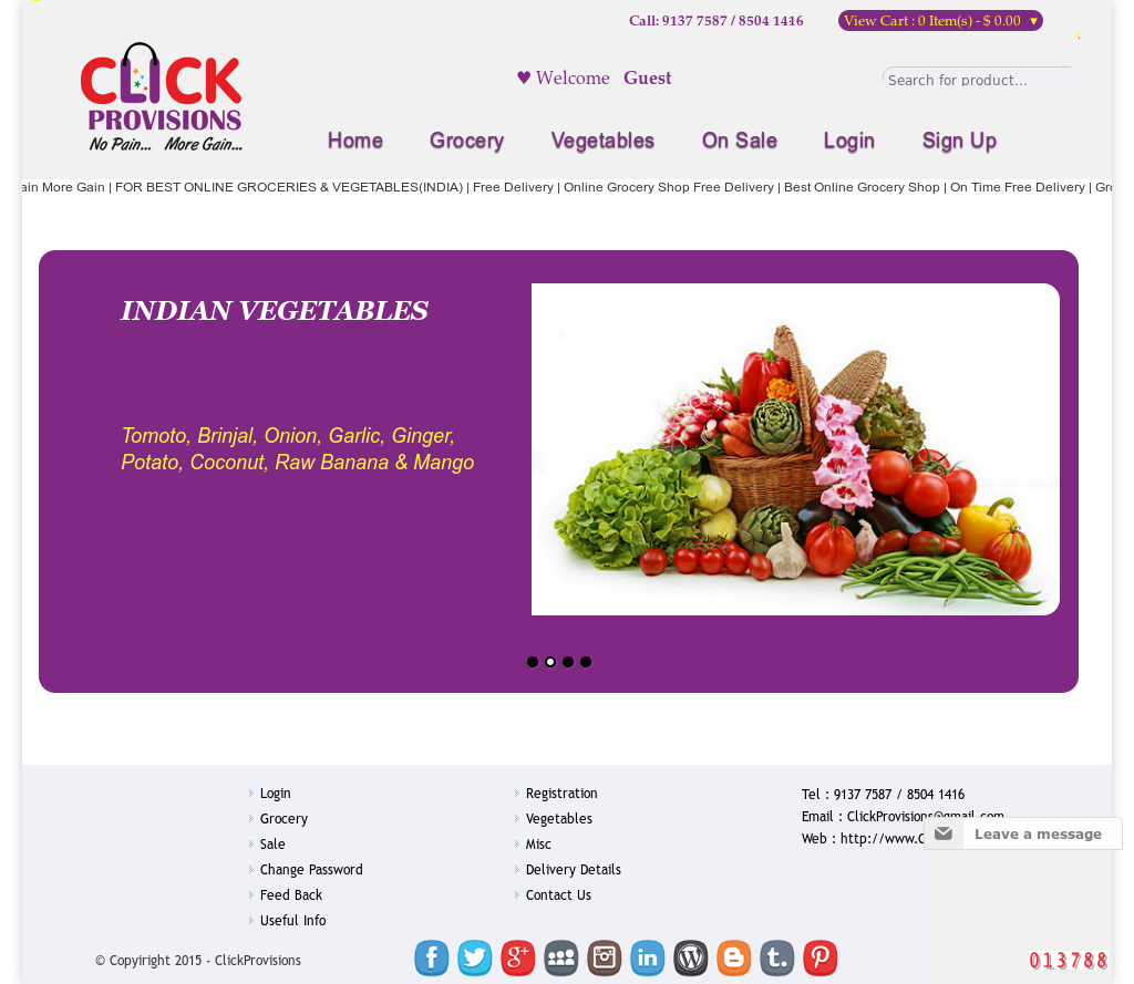 Clickprovisions Online Grocery Shop Competitors, Revenue and