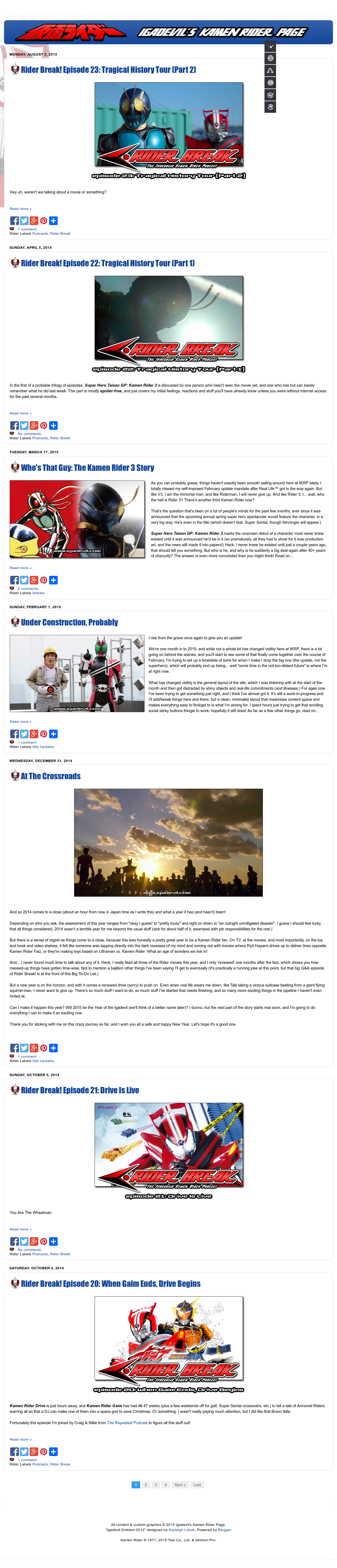Igadevil's Kamen Rider Page Competitors, Revenue and