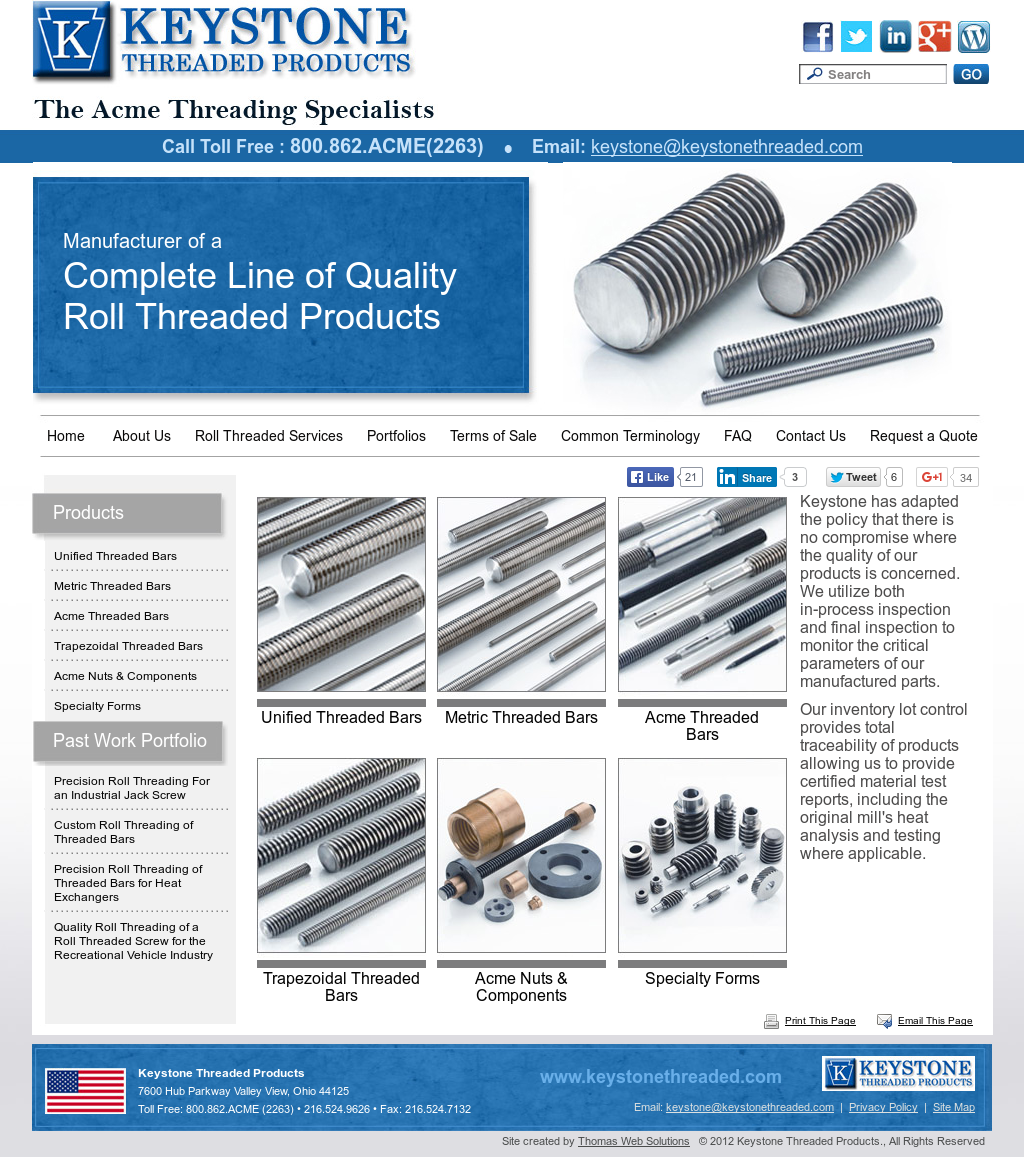 Keystone Threaded Products Competitors, Revenue and