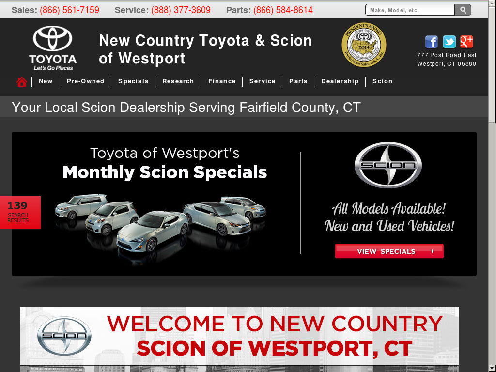 New Country Toyota And Scion Of Westport Compeors Revenue Employees Owler Company Profile