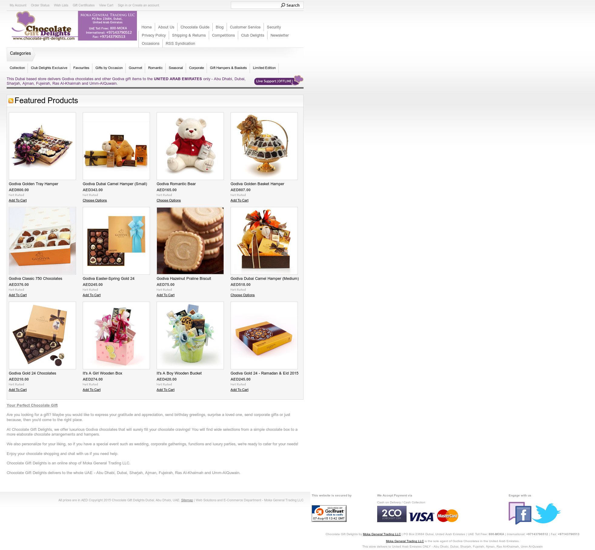 Chocolate Gift Delights Uae Competitors, Revenue and
