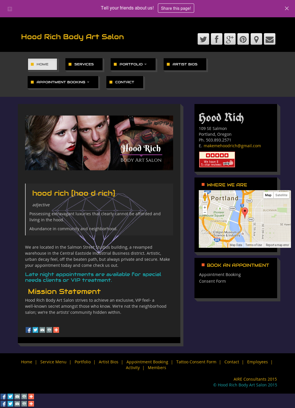 Hood Rich Body Art Salon Competitors Revenue And Employees Owler Company Profile