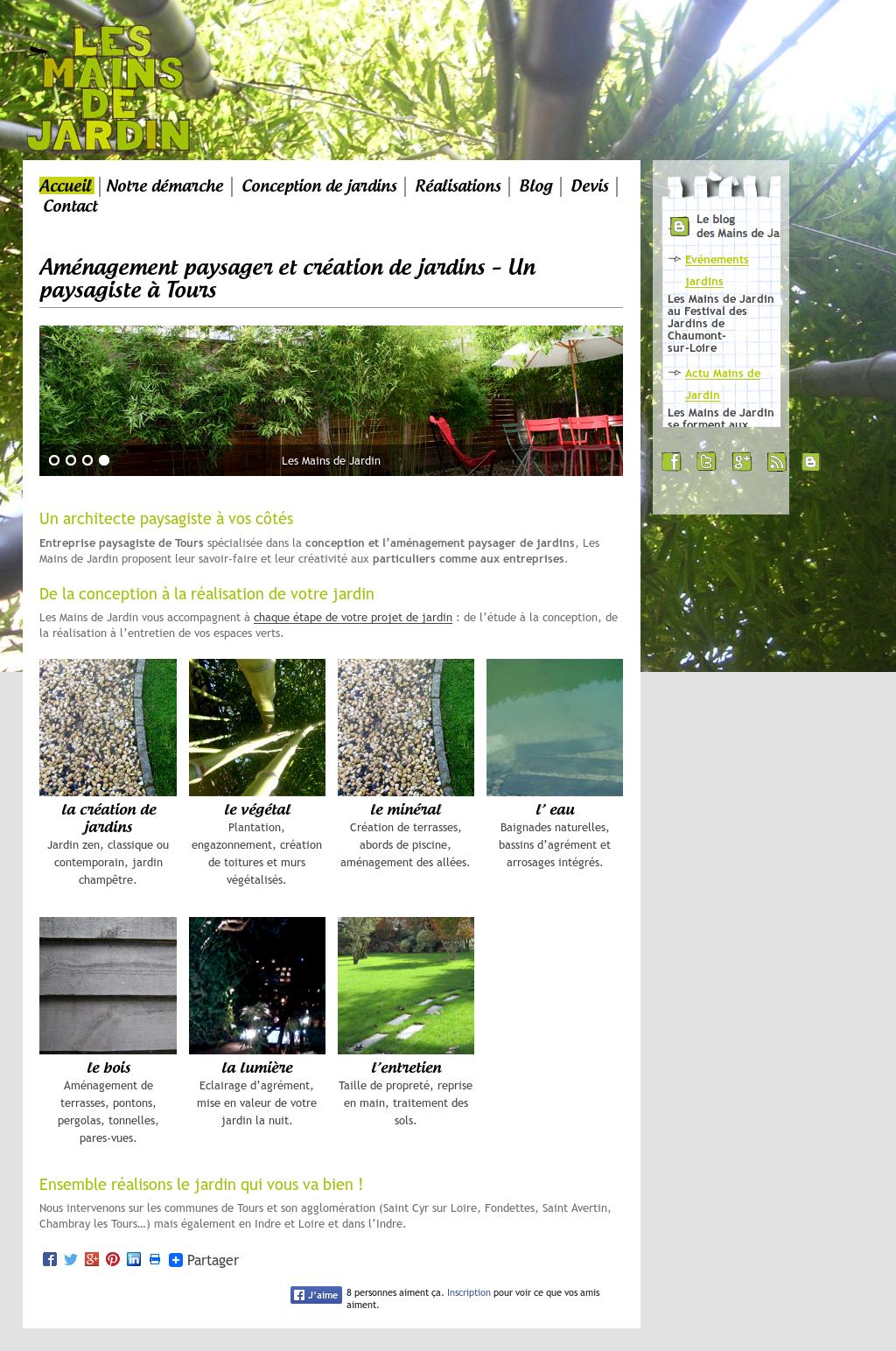 Paysagiste Indre Et Loire les mains de jardin competitors, revenue and employees