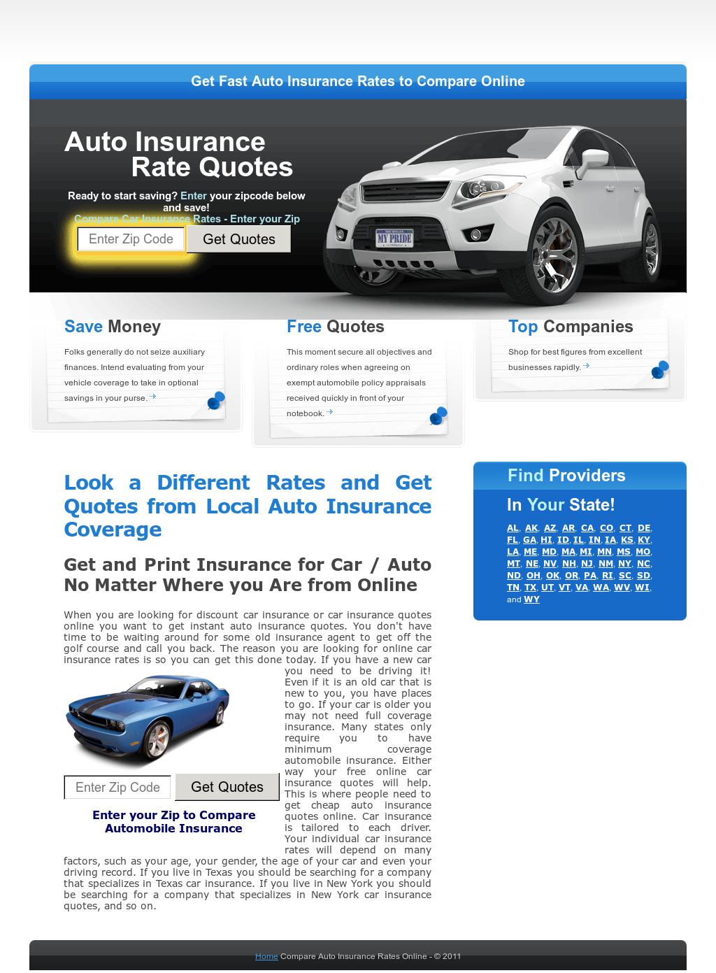 Compare Auto Insurance Rates Online Competitors Revenue And