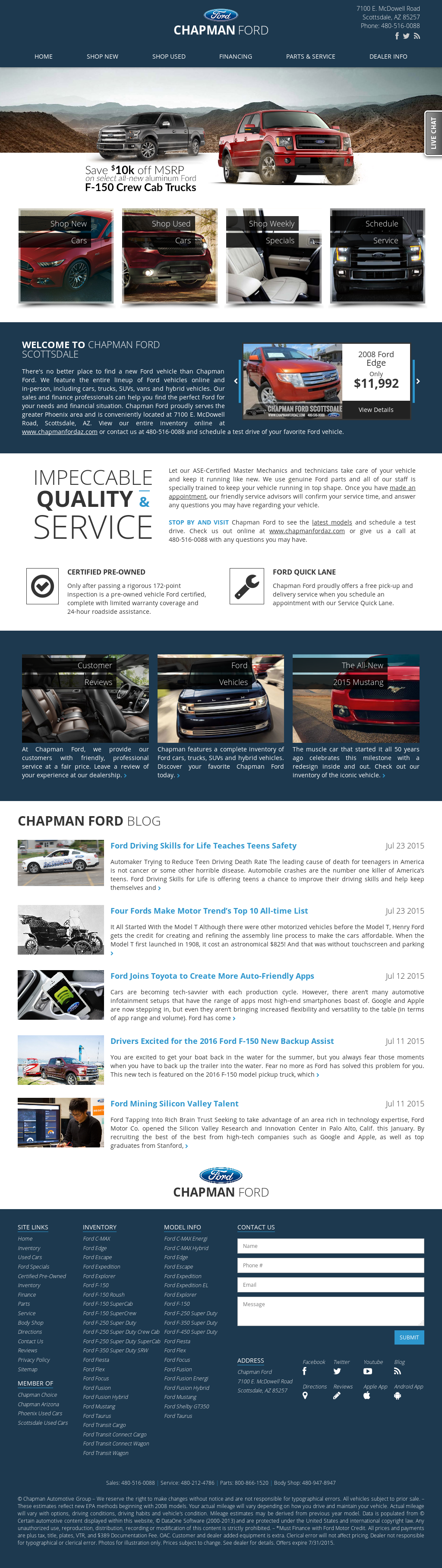 Chapman Ford Scottsdale >> Chapman Ford In Scottsdale Competitors Revenue And