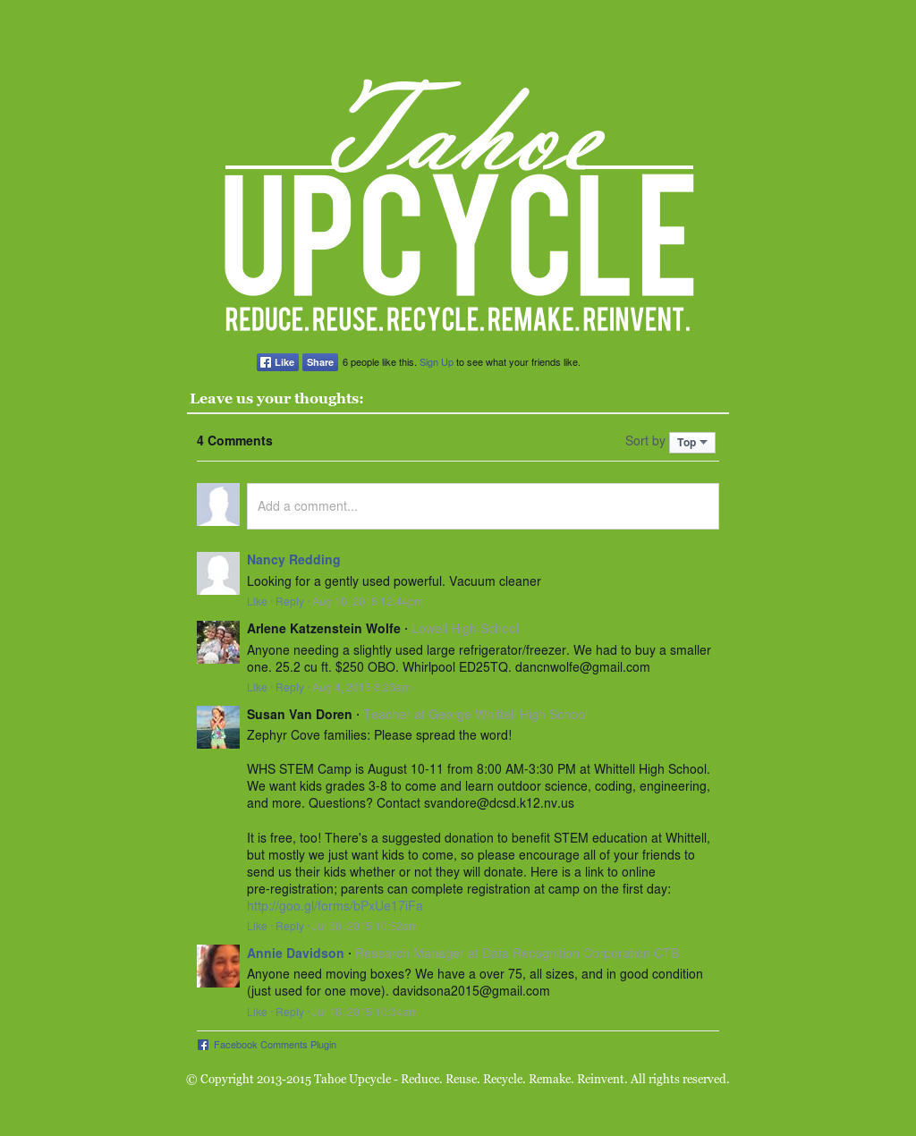 Tahoe Upcycle Competitors, Revenue and Employees - Owler