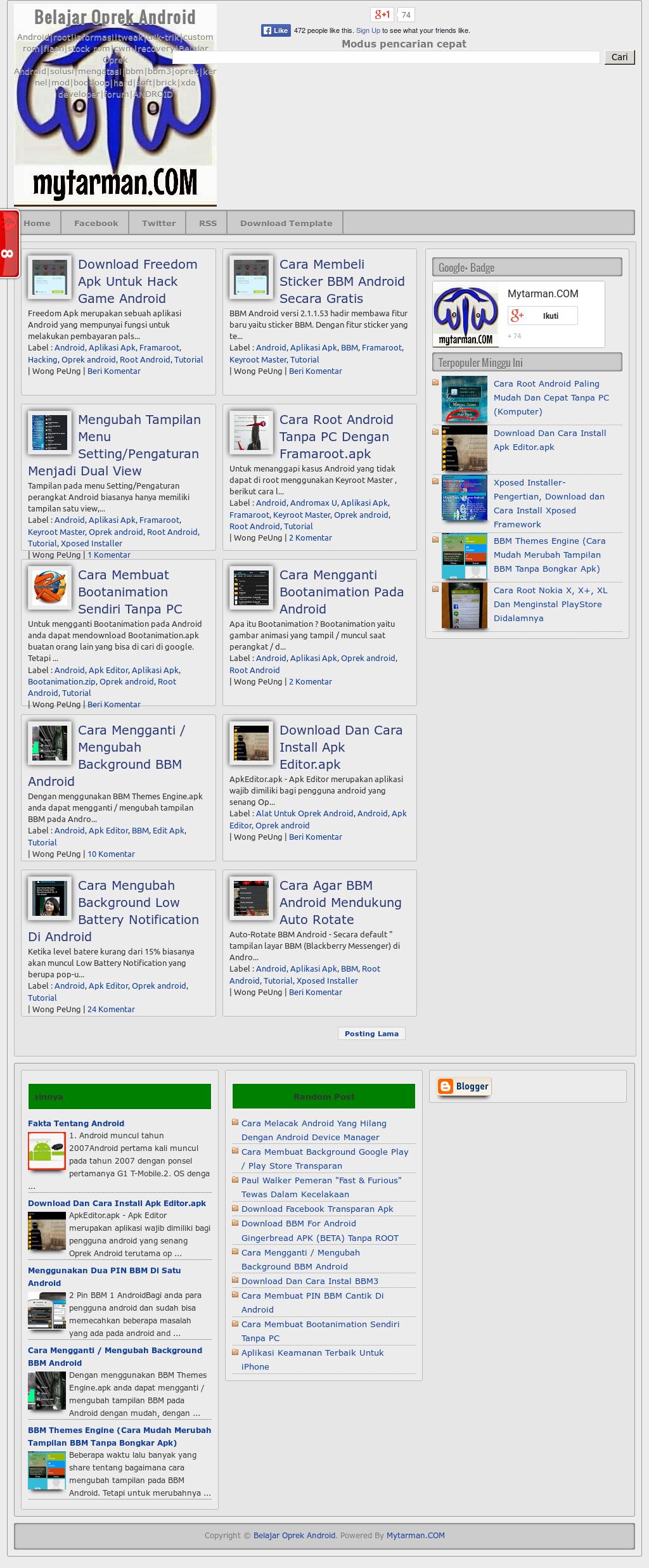 Warung Online Mytarman Dot Com/net Competitors, Revenue and