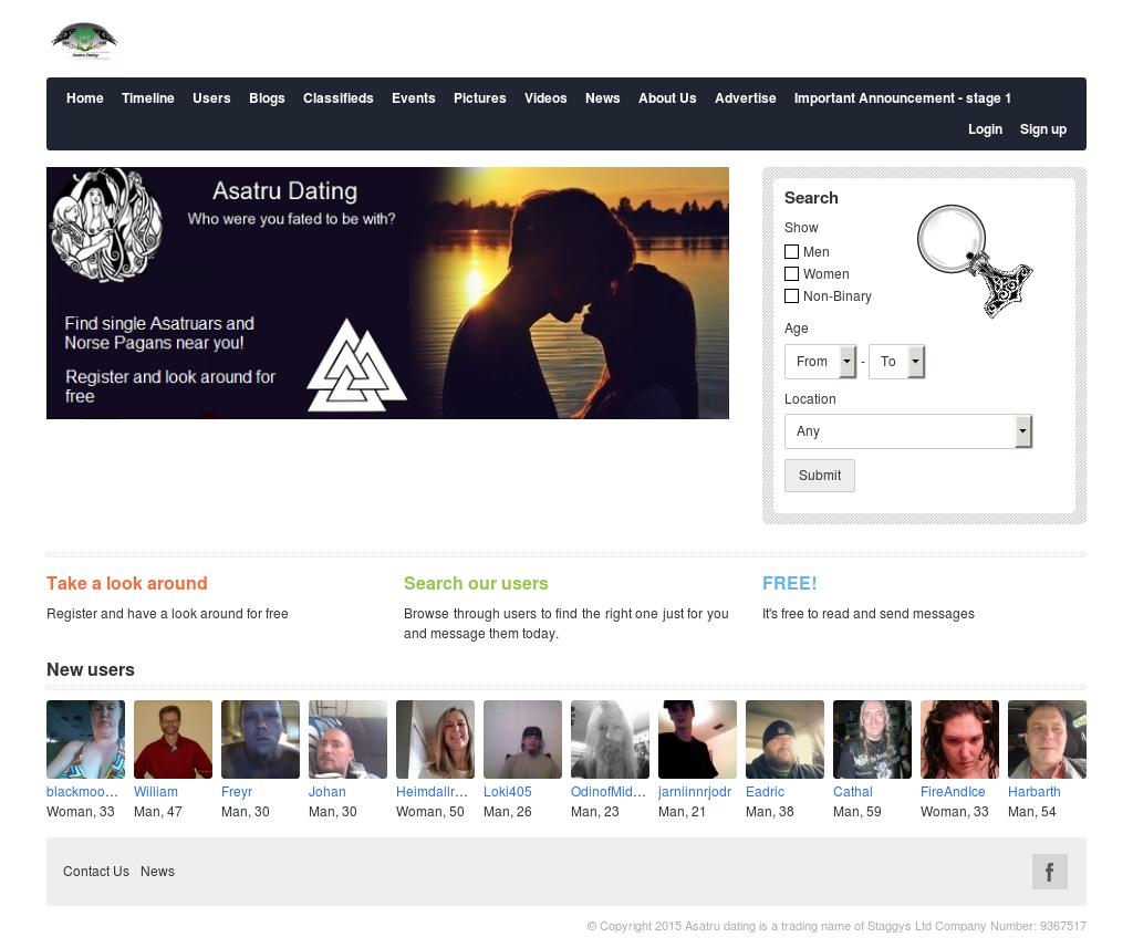 Asatru dating sites spam gratis dating site