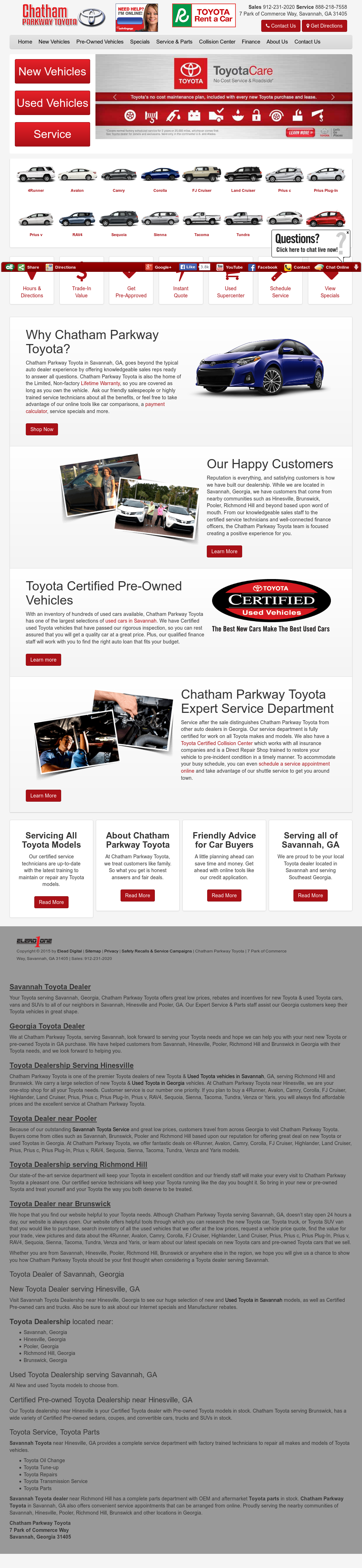 Chatham Parkway Toyota >> Chatham Parkway Toyota Competitors Revenue And Employees Owler