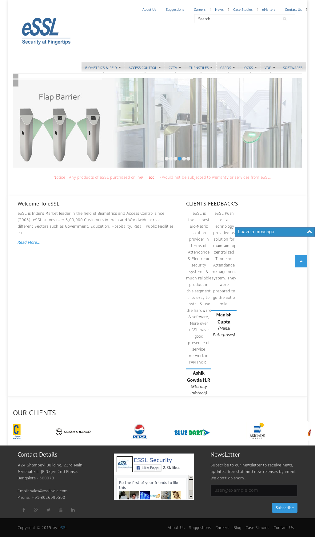 eSSL Competitors, Revenue and Employees - Owler Company Profile