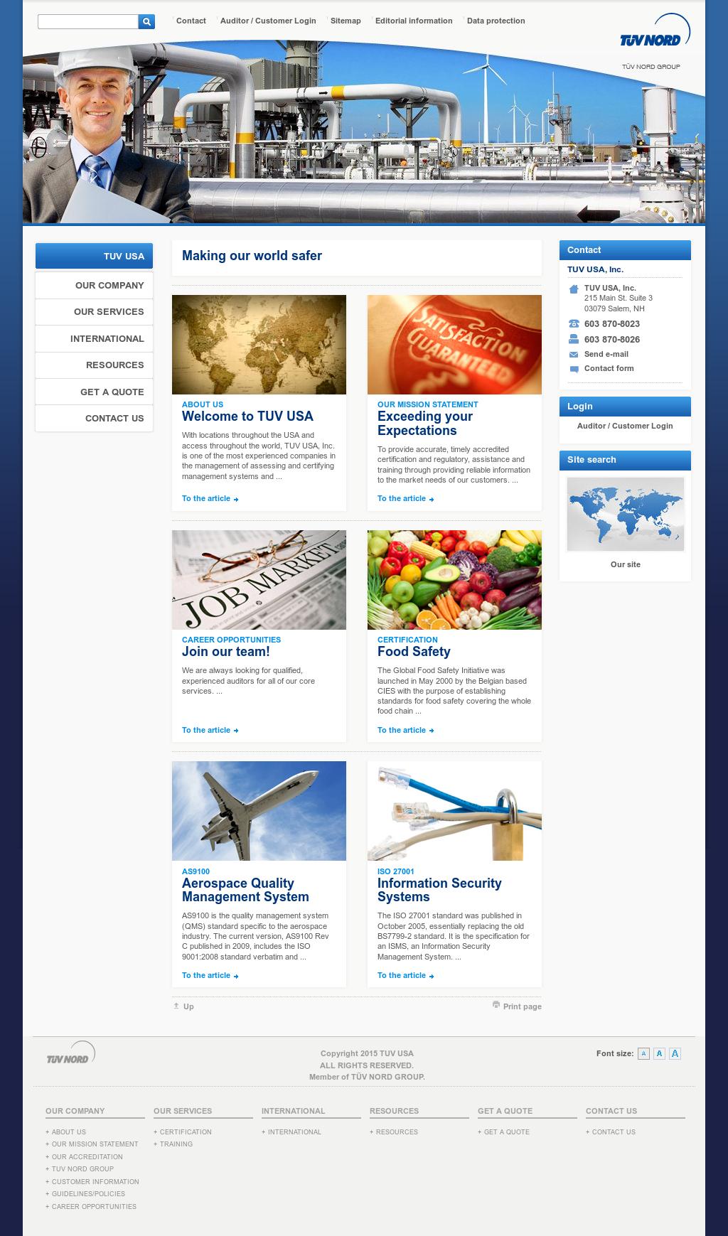 TUV USA Competitors, Revenue and Employees - Owler Company Profile