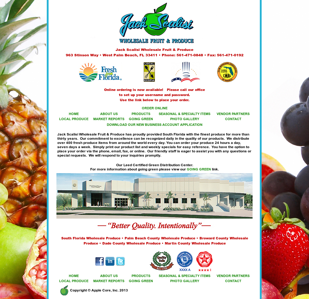 Jack Scalisi Wholesale Fruit & Produce Competitors, Revenue and