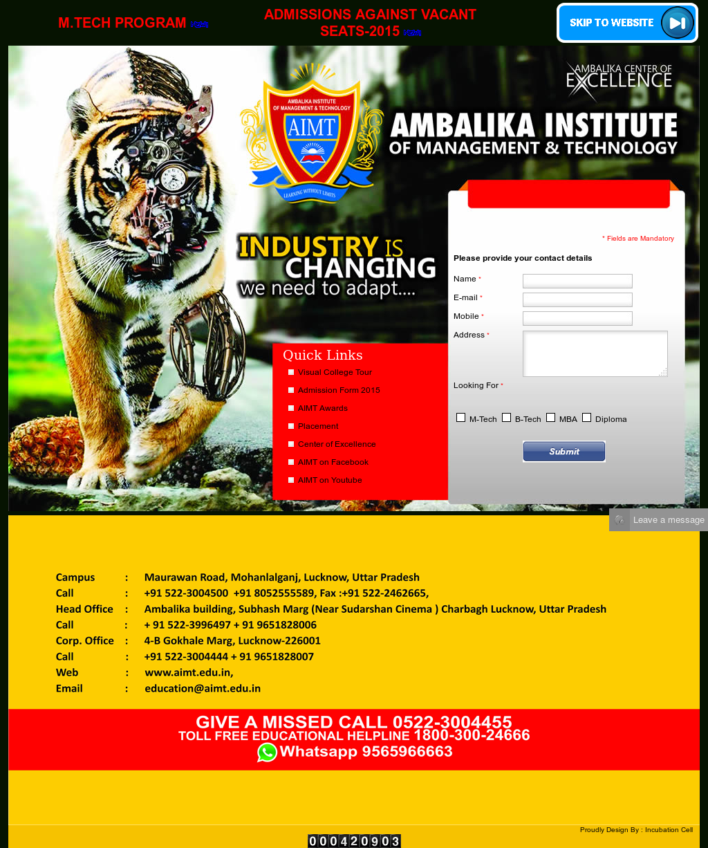 Ambalika Institute Of Management & Technology Competitors