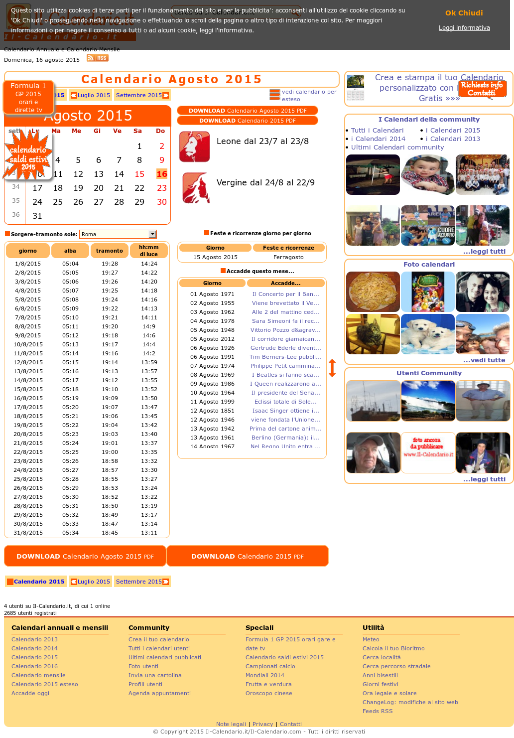 Calendario 1926.Il Calendario It Crea Gratis I Tuoi Calendari Competitors