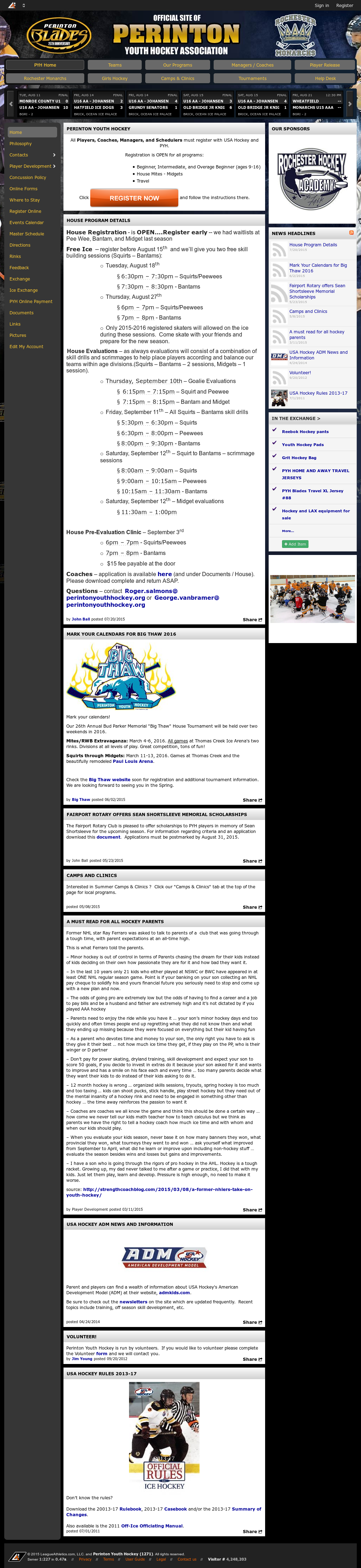 Perinton Youth Hockey Competitors, Revenue and Employees