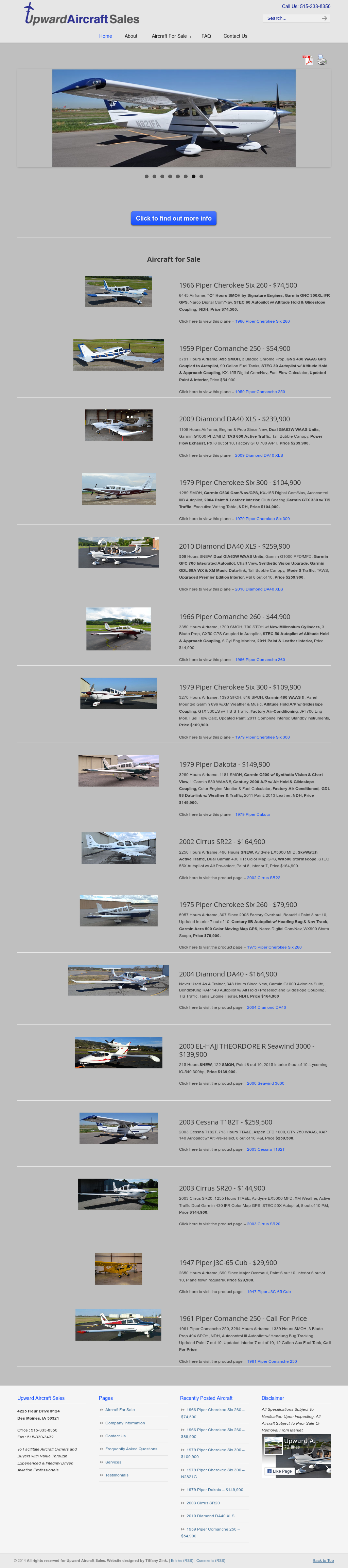 For Upward Aircraft Sales Competitors, Revenue and Employees