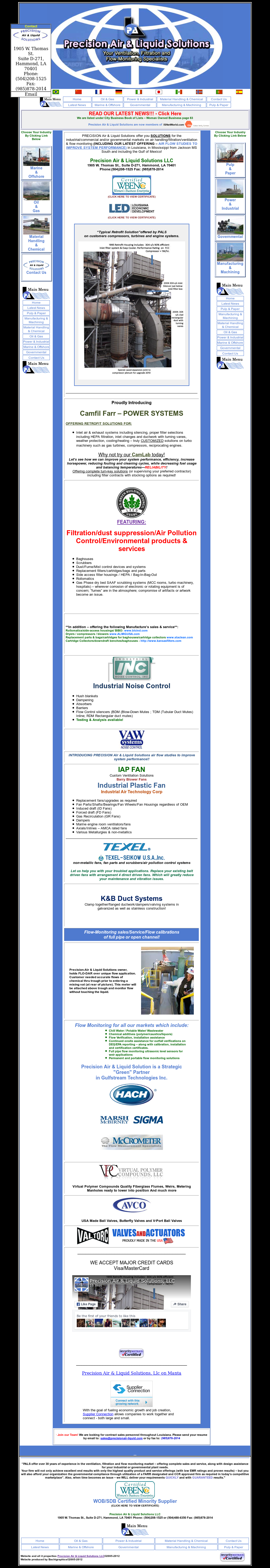 Precision Air & Liquid Solutions Competitors, Revenue and Employees