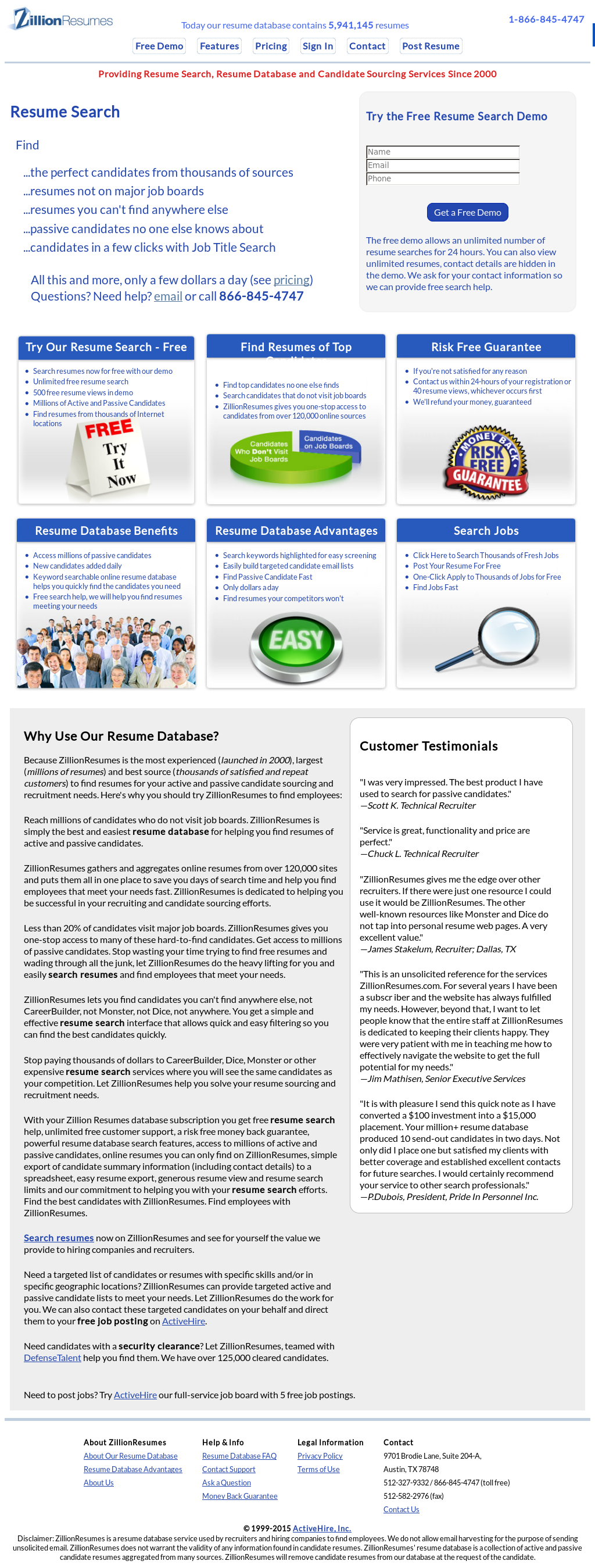 ZillionResumes Competitors, Revenue and Employees - Owler Company ...
