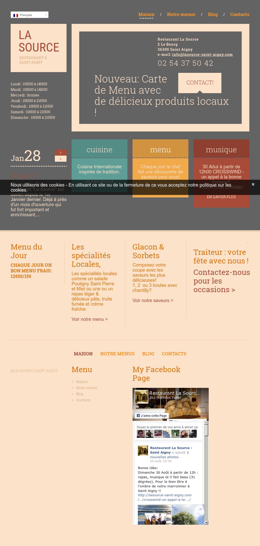 Idee Repas Jour De L An Pour 2.Restaurant La Source Saint Aigny Competitors Revenue And