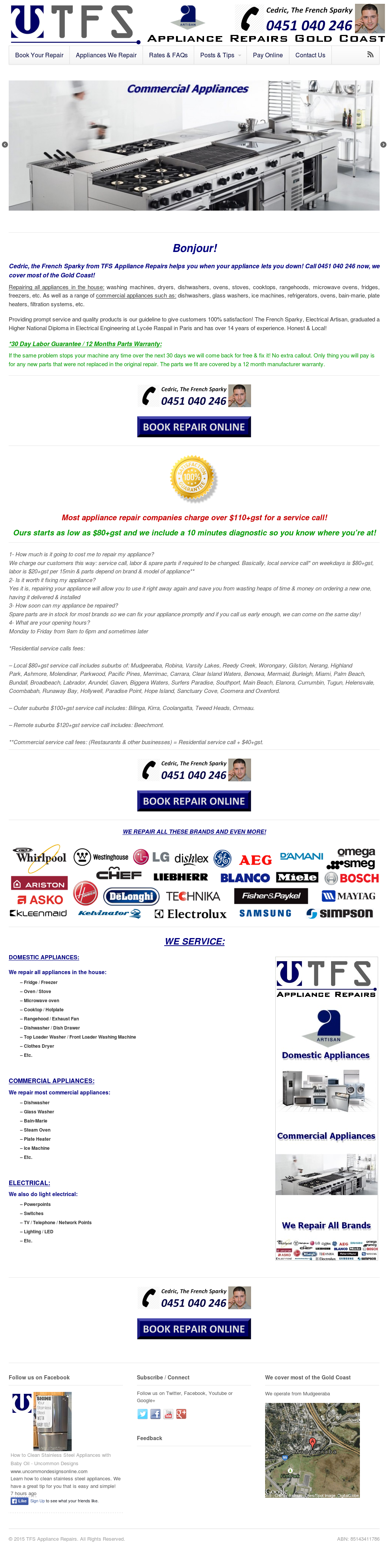 Tfs Appliance Repairs, Gold Coast Competitors, Revenue and Employees