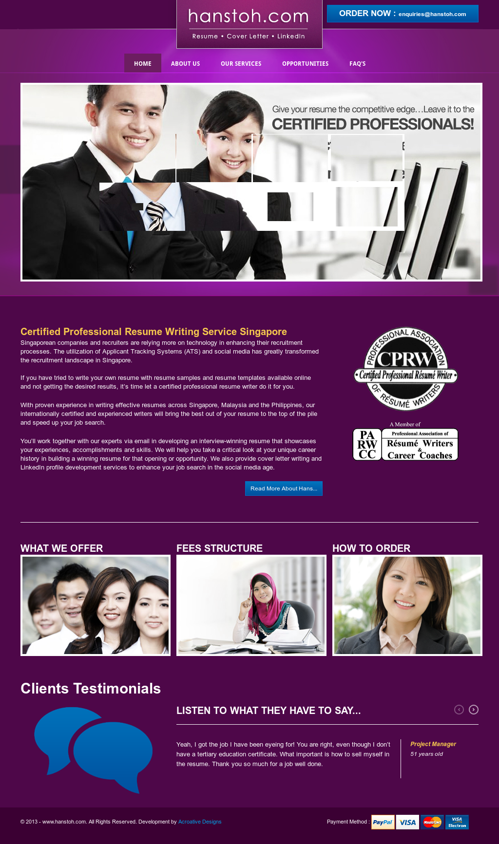 Malaysia\'s 1st Certified Professional Resume Writing Service ...