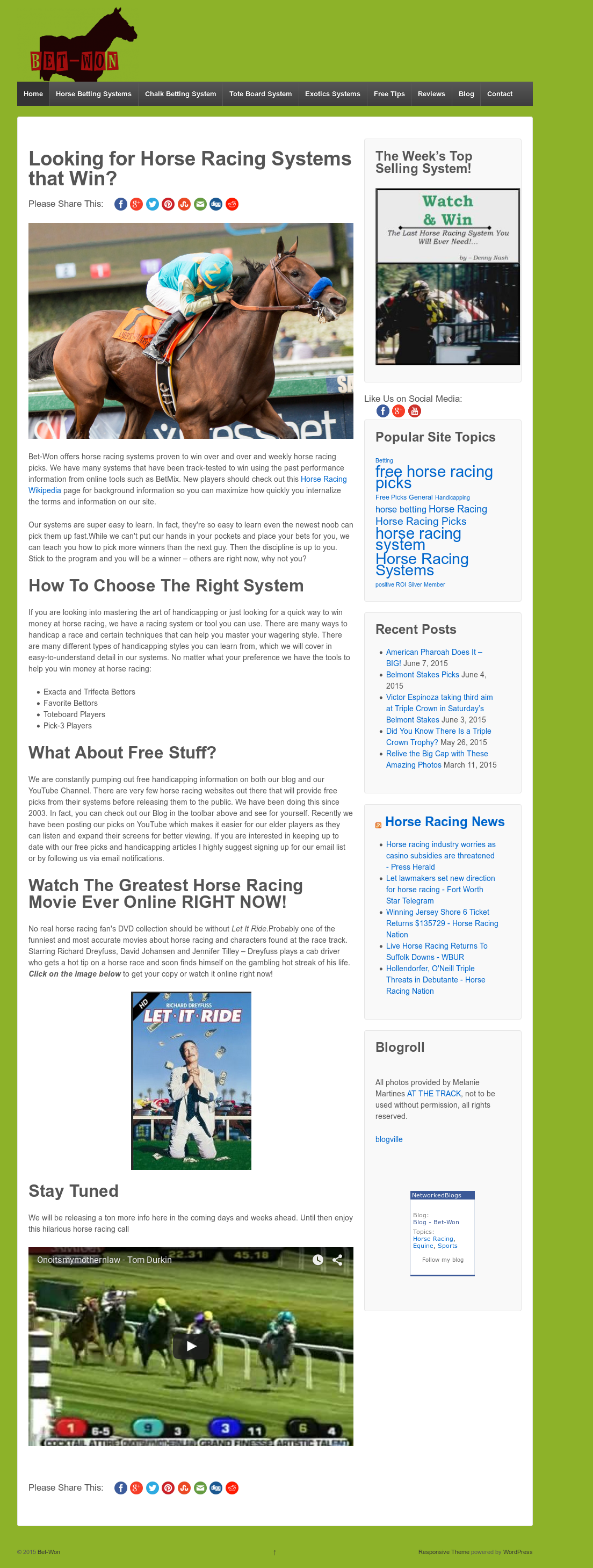 horse betting systems wiki