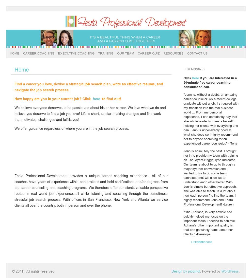 Festa Professional Development Competitors, Revenue and