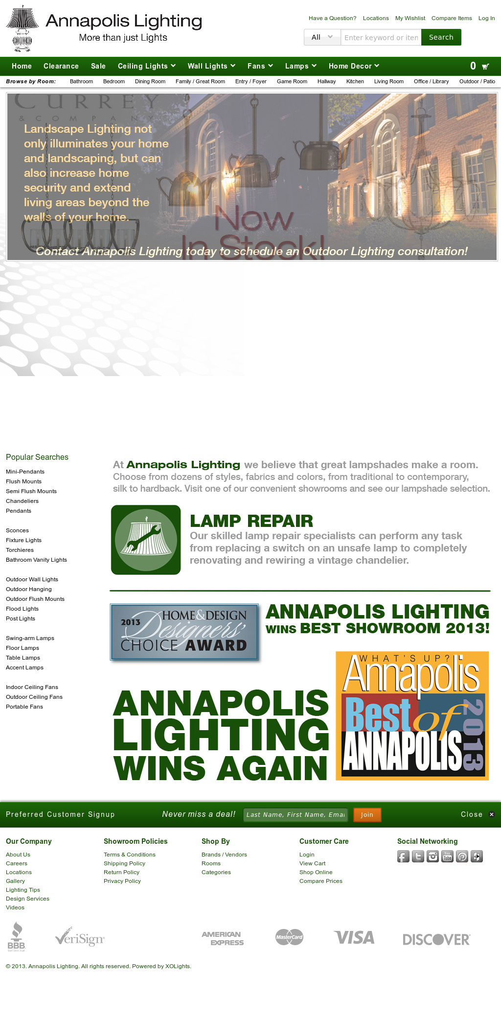Annapolis Lighting Compeors Revenue And Employees