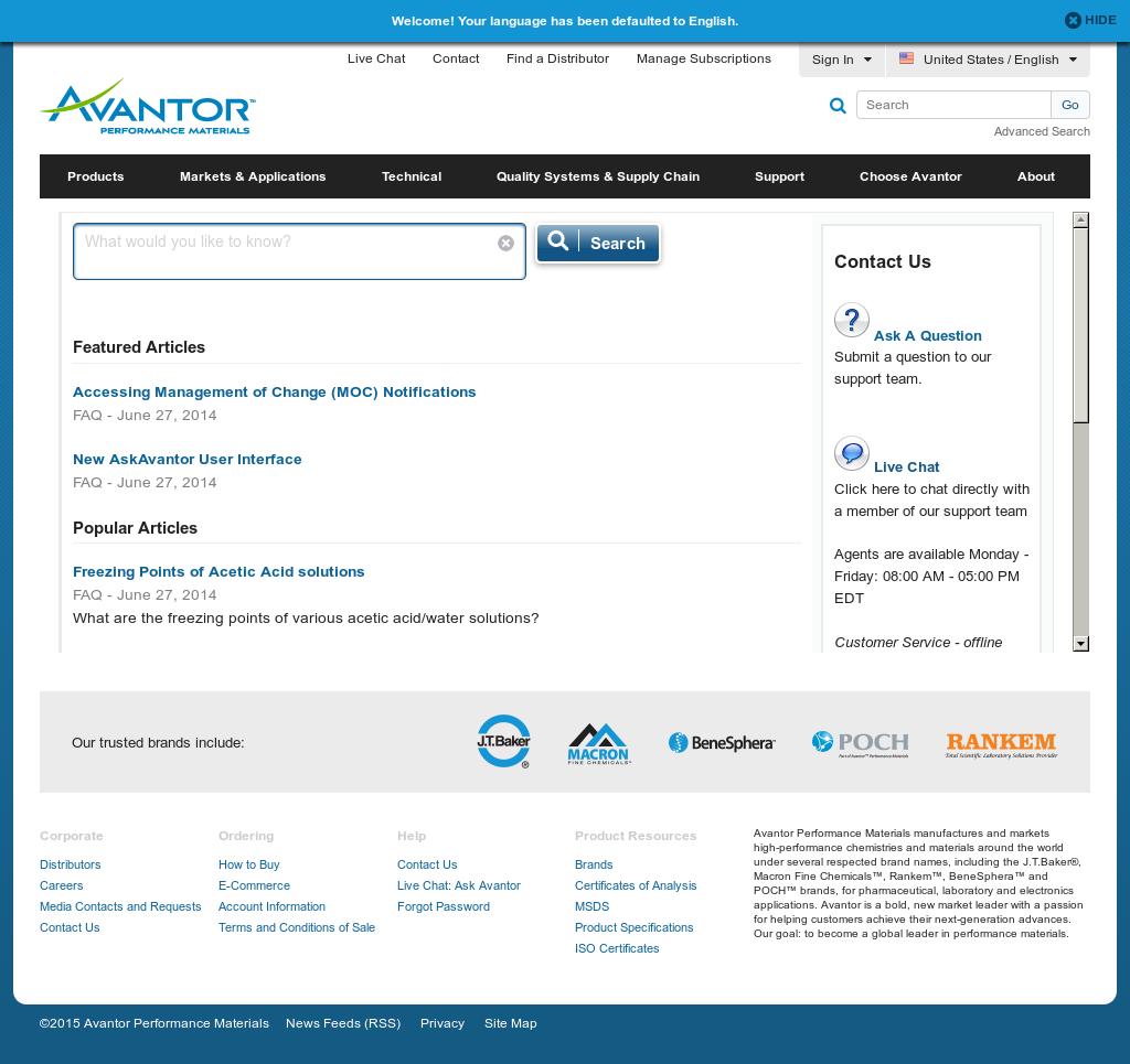 Avantor Performance Materials Competitors, Revenue and