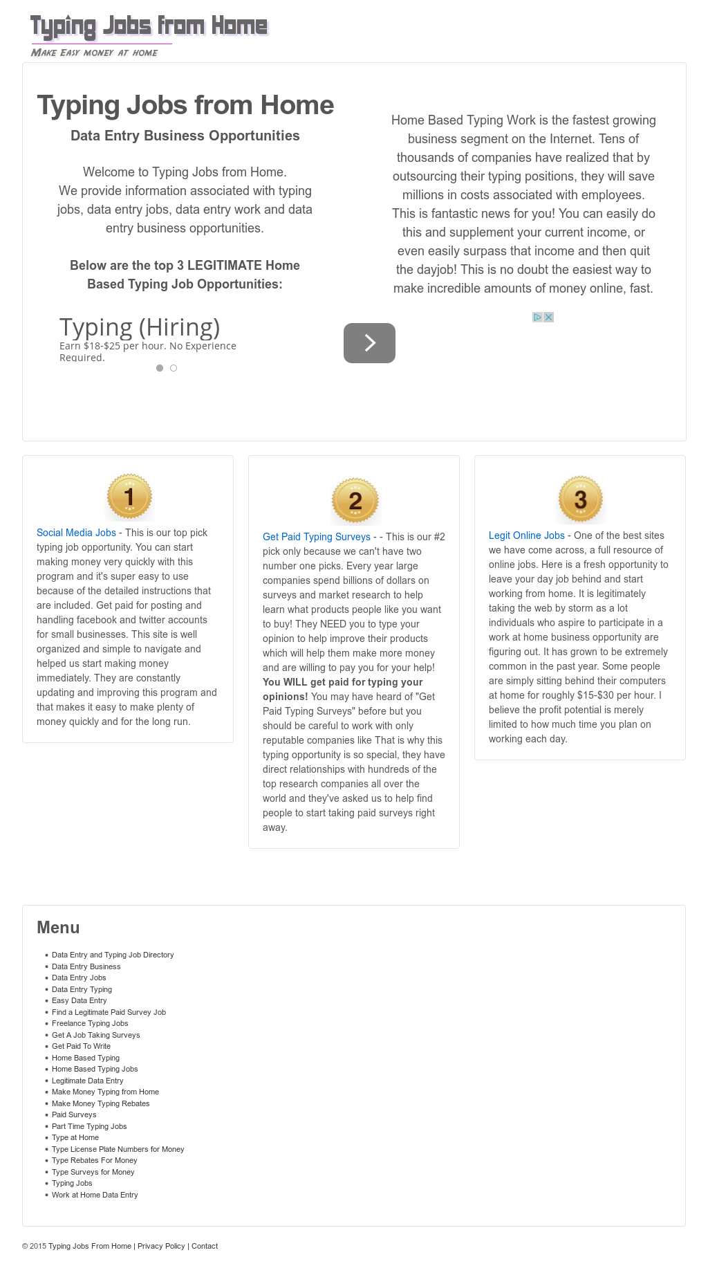 Typing Jobs From Home Competitors, Revenue and Employees