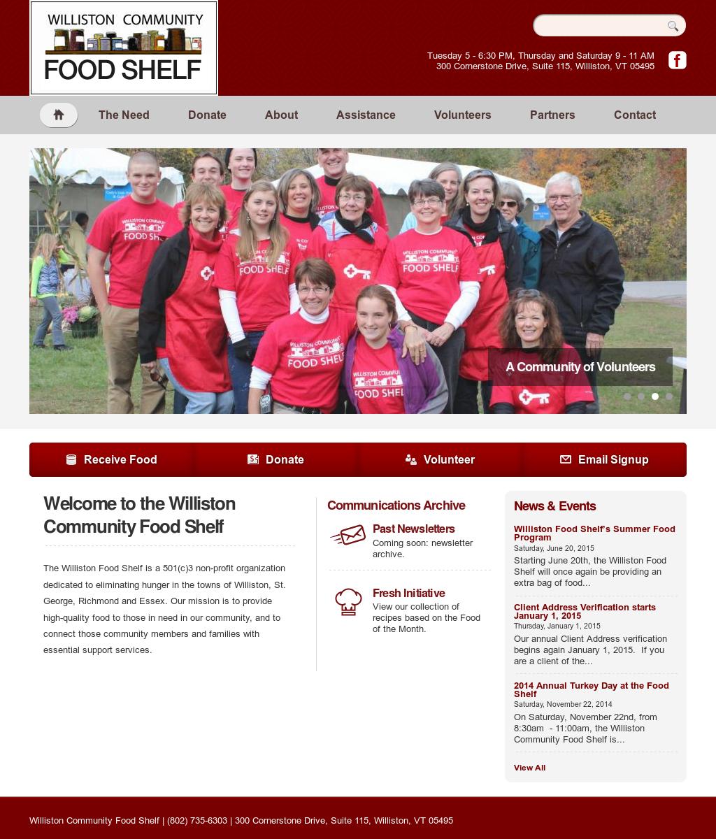 Williston Community Food Shelf Competitors, Revenue and Employees