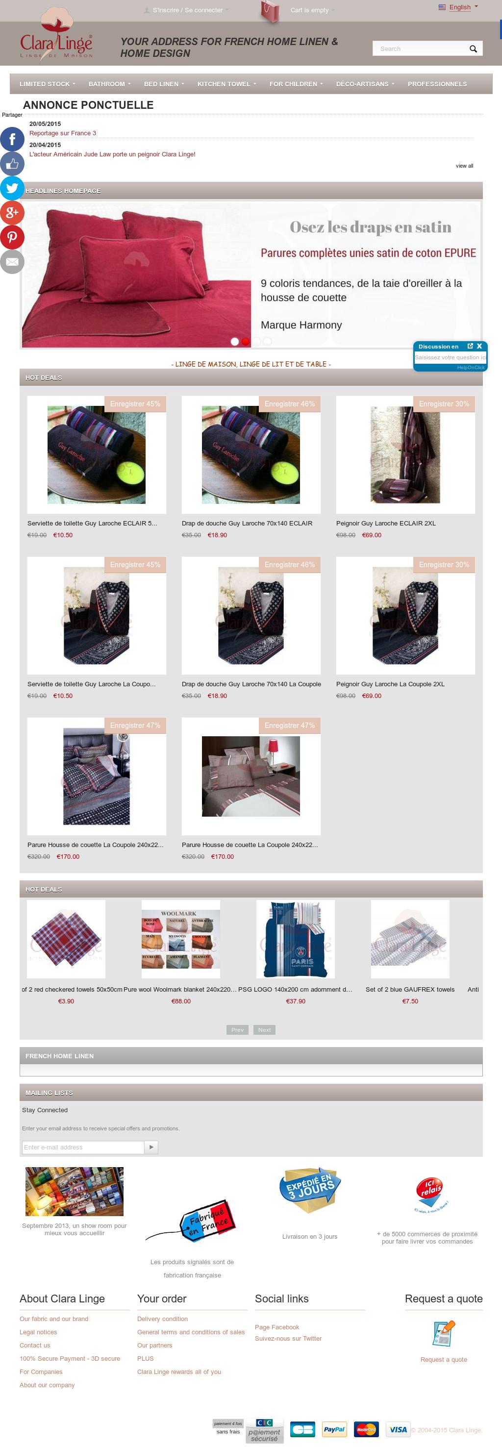 Clara Linge De Maison.Clara Linge Shopping Competitors Revenue And Employees