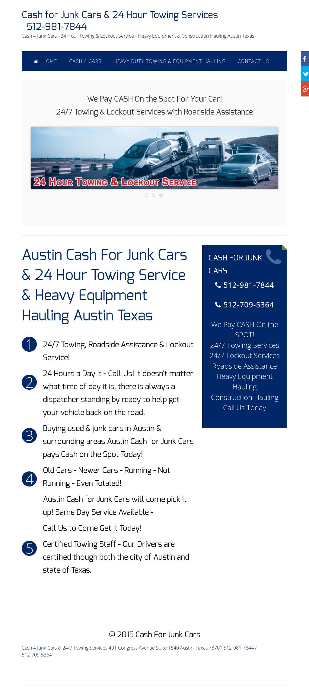 Austin Cash For Cars & 24 Hour Towing Service Competitors, Revenue ...